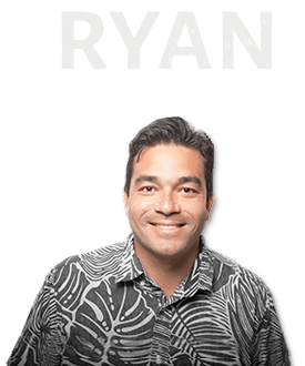 Cutout of Ryan with his name above